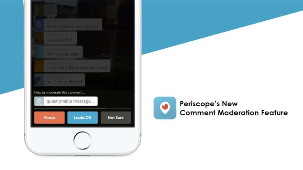 Blog post - Periscope comment moderation feature image for blog post