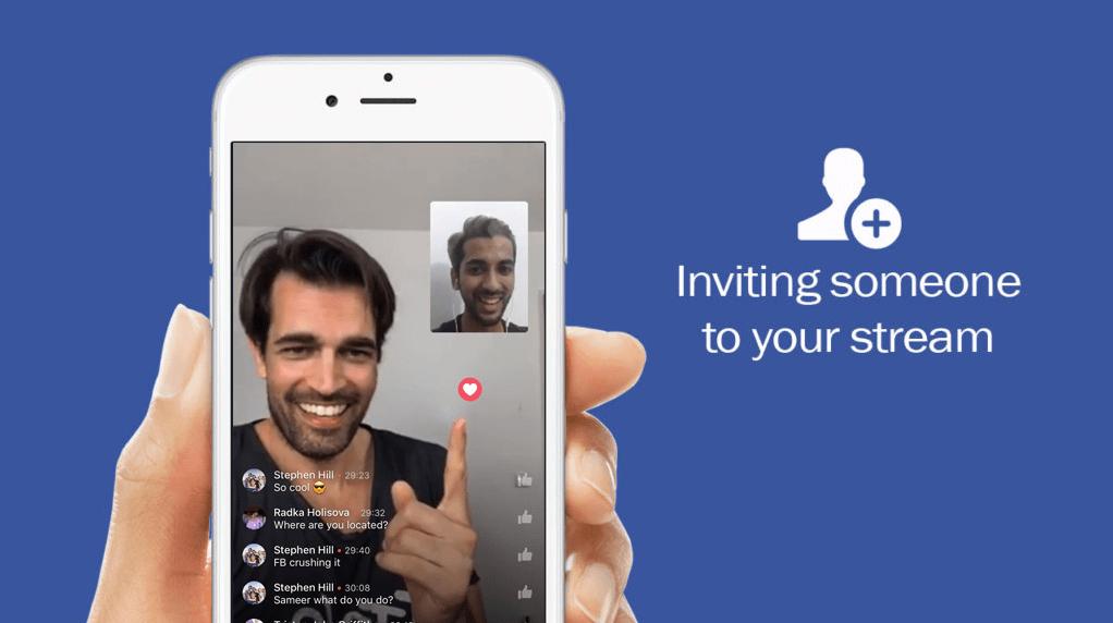 facebook live split screen