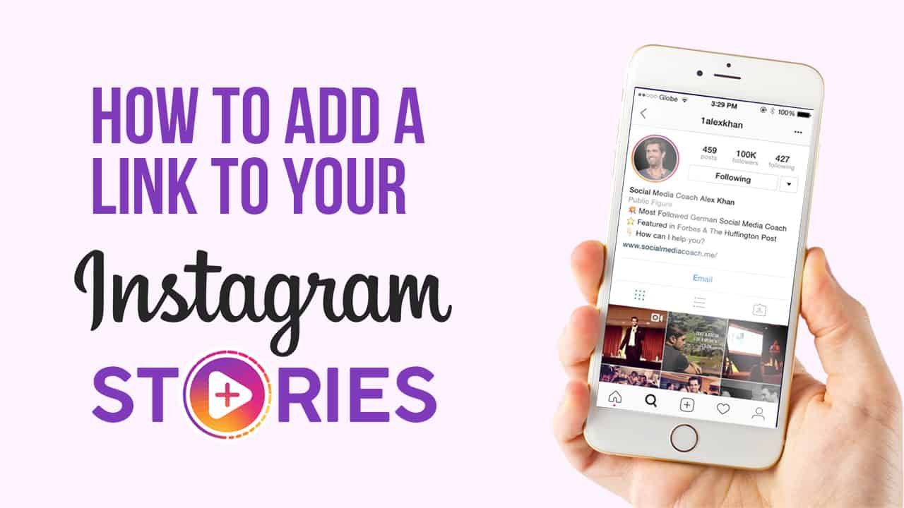 how to add link on instagram story